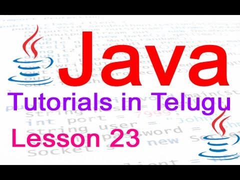 java-in-telugu---tutorial-23---using-arrays