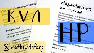 Högskoleprovet - Kvantitativ Del - HT 2017 - Provpass 5 - KVA - MATHSWITHFANG Video