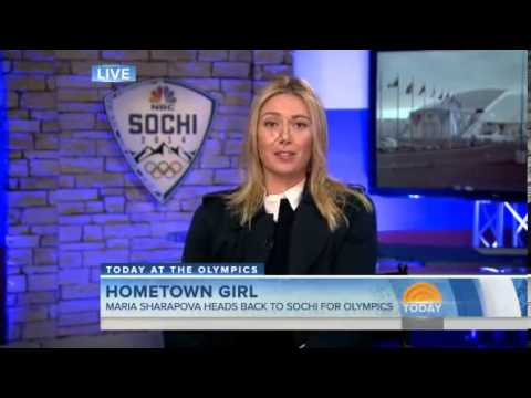 Maria Sharapova at Today Show in Sochi 2014 Feb. 6, 2014