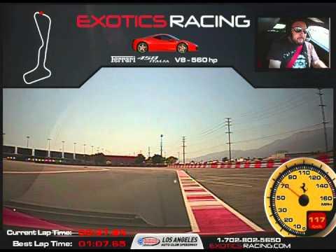 FERRARI 458 ITALIA - EXOTICS RACING 1:02 LAP TIME - LOS ANGELES AUTO CLUB SPEEDWAY