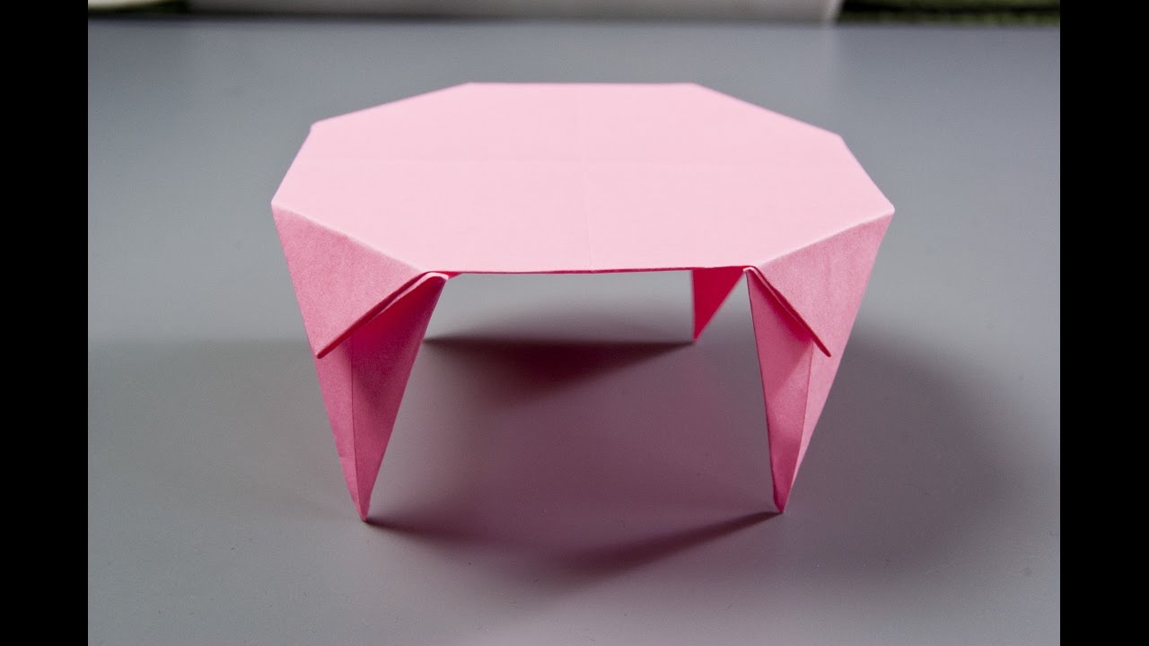 How To Make A Paper Table | Origami Table