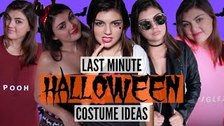 10 LAST MINUTE EASY & CHEAP HALLOWEEN COSTUME IDEAS