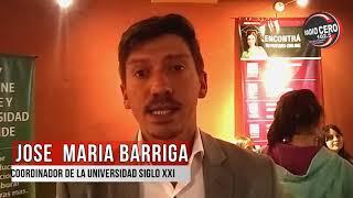 José María Barriga- Coordinador de alumnos de la universidad Siglo XXI // Radio Cero
