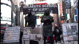 BLACK PEOPLE have LOST ALL HONOR & INTEGRITY   ISUPK Times Square NY