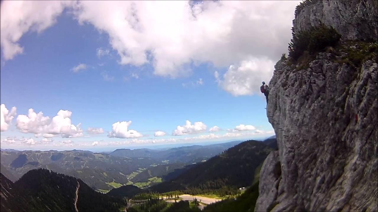 Klettersteig Levels : Heli kraft klettersteig hochkar youtube