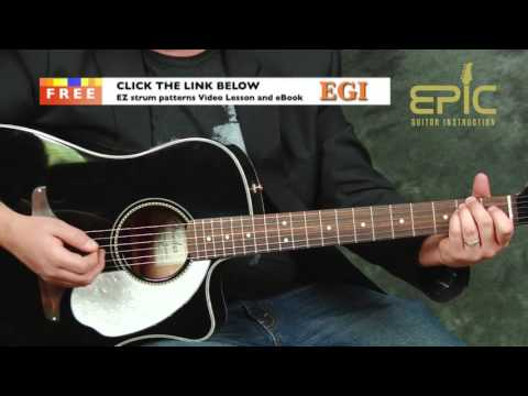 Learn Hey You Pink Floyd EZ beginner acoustic guitar song lesson chords strumming picking patterns