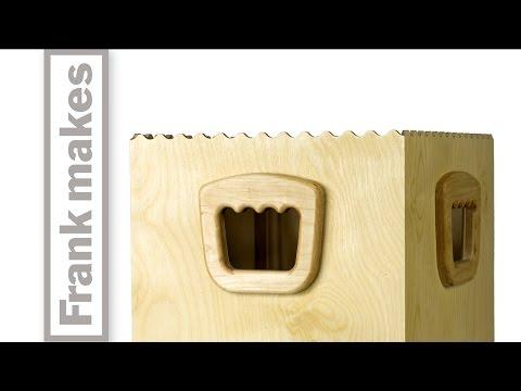 Wooden  Recycling Bin