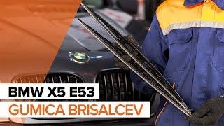 Kako zamenjatigumica sprednjih brisalcevnaBMW X5 E53 VODIČ   AUTODOC