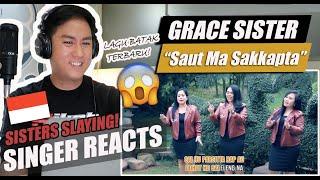 Gracia Sister - Saut Ma Sakkapta (Lagu Batak terbaru 2021) Official Music Video   SINGER REACTION