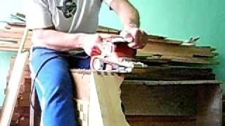 Lixando encaixes com lixadeira de cinta
