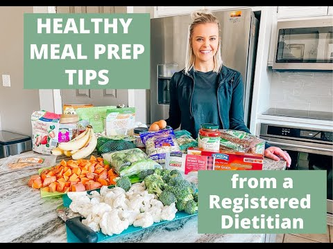Registered Dietitian's Healthy Grocery Haul & Meal Prep Tips