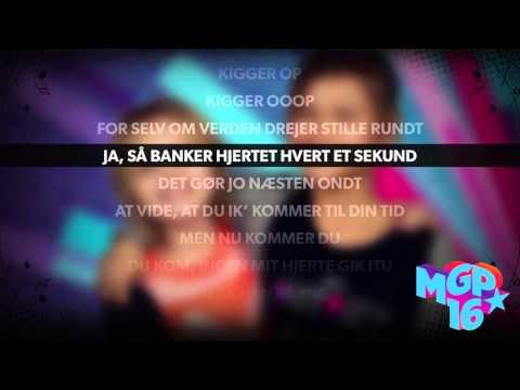 Froja & Sarah - Hvor bliver du af | Karaoke | MGP 2016