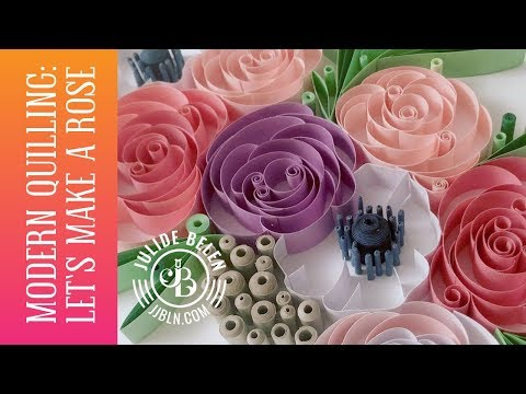 Modern Quilling Basics: How to Make a Quilled Paper Art Rose - For Beginners