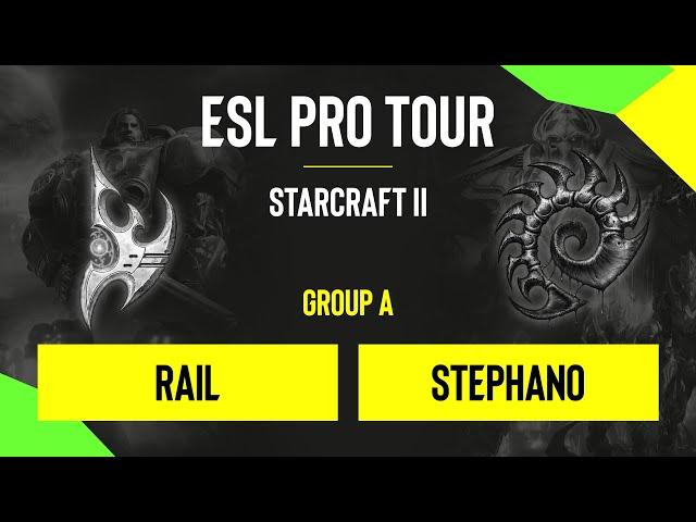 SC2 - Rail vs. Stephano - DH SC2 Masters - Summer 2020 - Group A - EU