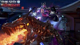 TRANSFORMERS Online - Optimus Prime vs Grimlock The Last Knight Skin Training Skills Gameplay