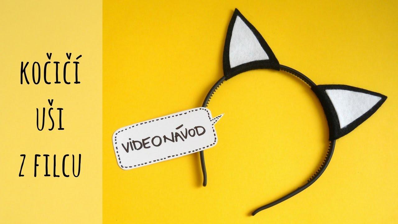 Uši z filcu na karneval- návod na kočičí čelenku - YouTube 9fd20f7525