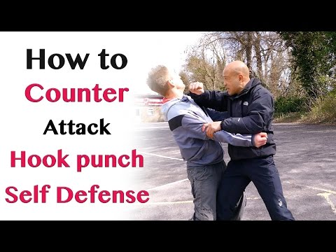How to counter hook punch attack - self defence