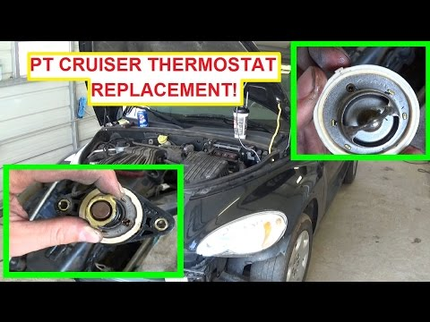 Chrysler PT Cruiser Thermostat Removal and Replacement! 2.4 Engine ...