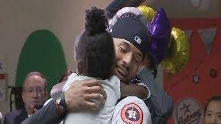 Houston Astros Carlos Correa visits children