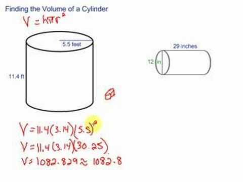 volume of a cylinder youtube
