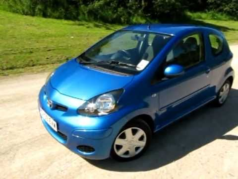 Toyota Aygo Blue LPG converted NOW SOLD from eco-cars.net