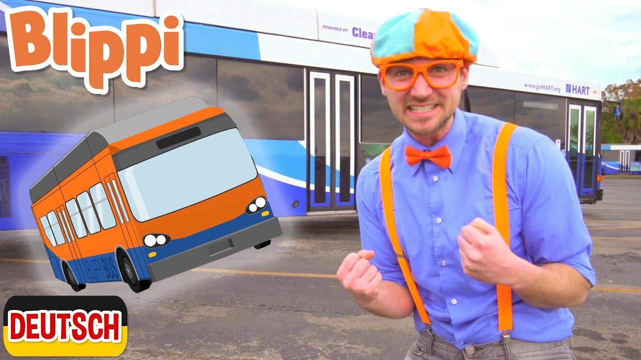 Blippi Deutsch - Blippi erkundet einen Bus | Abenteuer und Videos für Kinder