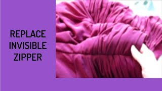 How To Replace An Invisible Zipper In An Unlined Dress