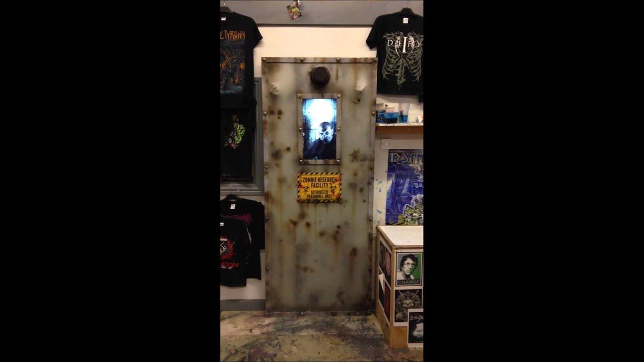 Zombie door prop & Zombie door prop - YouTube