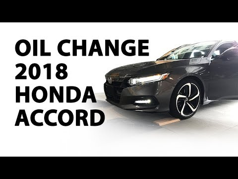 How To Change the Oil - 2018 Honda Accord Sport 1.5