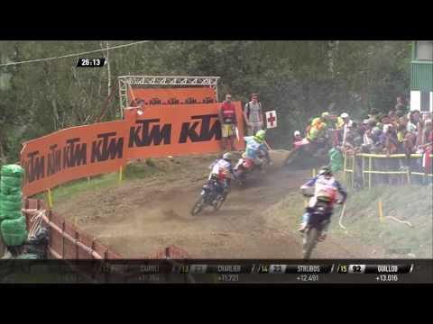 Tim Gajser & Romain Febvre pass Gautier Paulin MXGP of Czech Republic MXGP Race 1 - 2016
