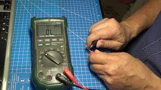 MS8229 continuity beeper / тест звуковой прозвонки