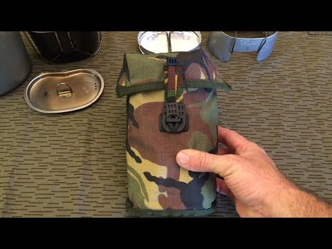 The Dutch Army Canteen, Cup and Pouch Review and Demo.
