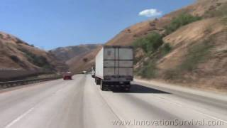 California Interstate 5 (I-5) Grapevine Ascent at 300 MPH