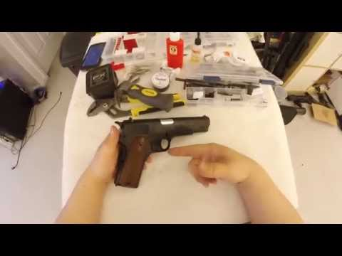 Crosman GI 1911 4 5mm Co2 Blowback Disassembly - YouTube