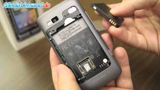 HTC Desire Z SIM-Karte und Akku einsetzen Handy Telefon Mobile