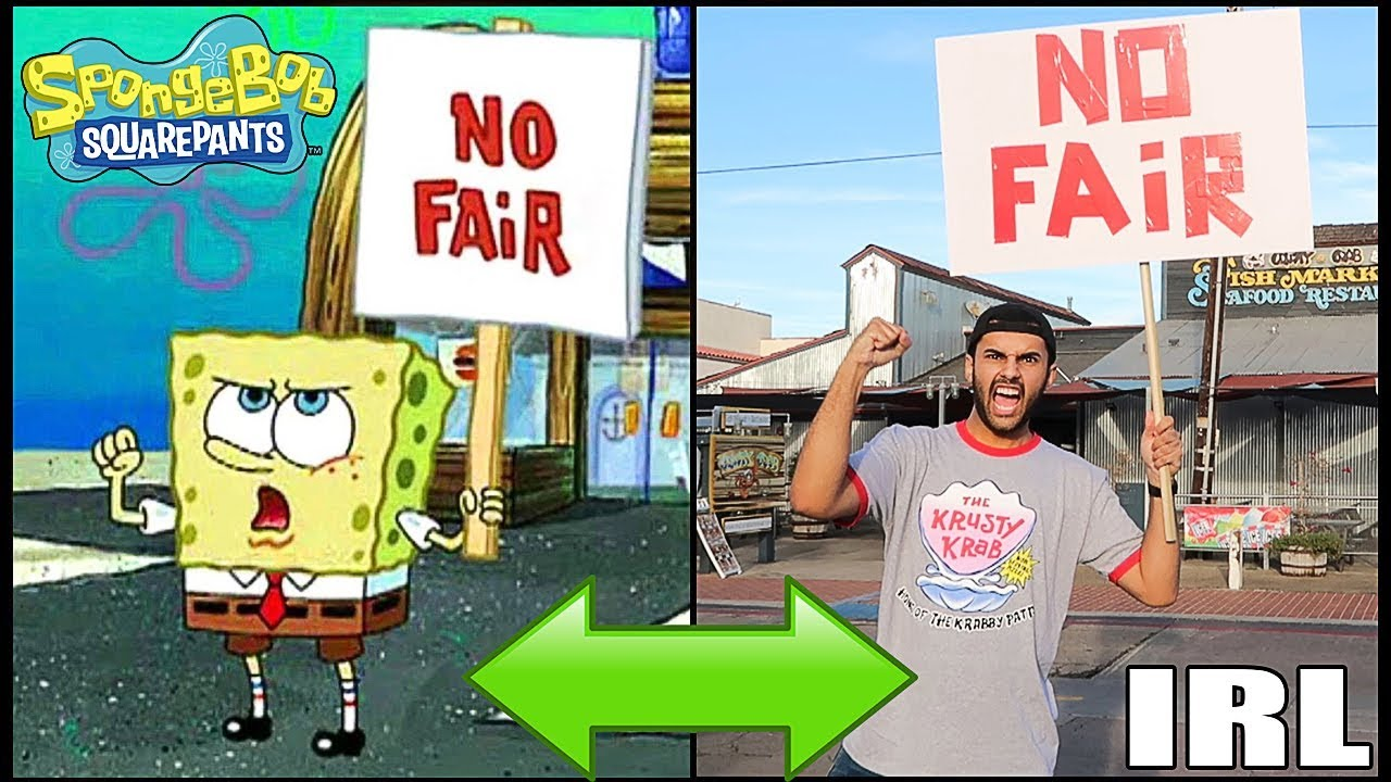 Picketing Outside Of A Actual Krusty Krab Restaurant In Real Life