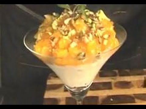 Yogurt Mousse with Golden Apricots - YouTube