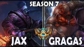 Best Jax Korea vs Gragas TOP Ranked Challenger