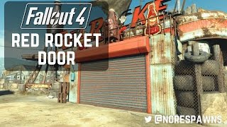 Fallout 4 - Nuka World Red Rocket Adding a Rolling Door Simple Method