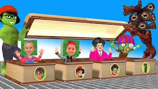 Scary teacher 3d superheroes nickhulk and Tani Harley Quinn Vlad & Nikita  Best Troll Miss T gaming