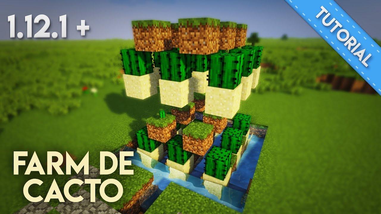 FARM DE CACTO SUPER FACIL! - [ TUTORIAL Minecraft ]