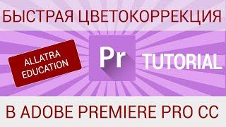 Быстрая цветокоррекция в Adobe Premiere Pro / Сolor correction in Adobe Premiere Pro CC. Tutorial