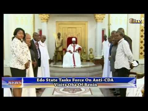 Edo State Task Force on Anti-CDA visits Oba of Benin