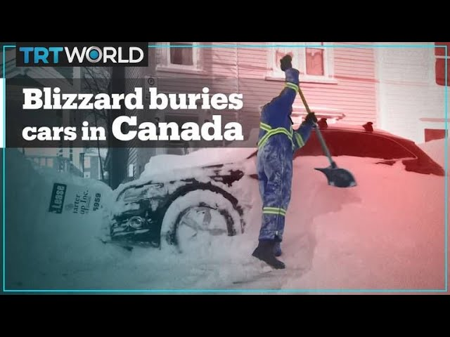 Blizzard buries cars in Canada's Newfoundland