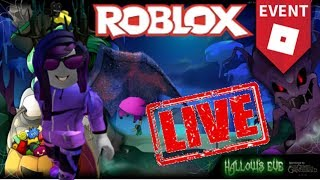 HALLOW'S EVE | PURPLE CARPET EVENT | EARLY ACCESS 🔴ROBLOX EVENT LIVE 🔴 | Road to 17K! AGAIN?!?