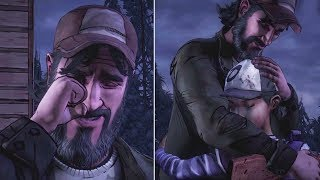 Clem Hugs vs Don't Hug Kenny -All Choices- The Walking Dead