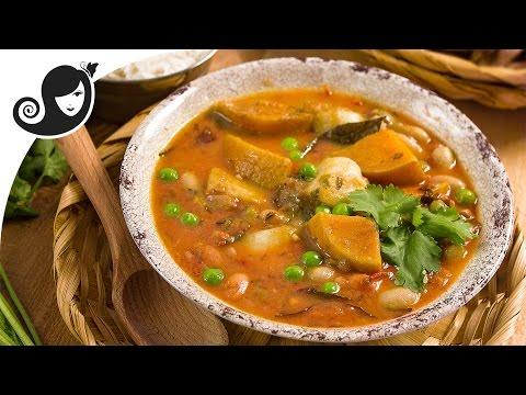 Borlotti (Pinto) Beans and Butternut Squash Daube (Mauritian Stew) | Vegan / Vegetarian Recipe