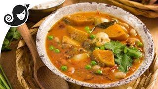 Borlotti (Pinto) Beans and Butternut Squash Daube (Mauritian Stew)   Vegan / Vegetarian Recipe