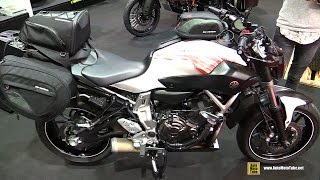 2016 yamaha mt07 fz07 customized by sw motech walkaround 2015 salon de la moto paris