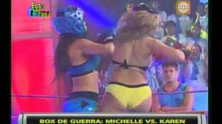 """Esto es Guerra de Verano: """"Box"""" Karen Dejo vs Michelle Soifer - 04/02/2013"""